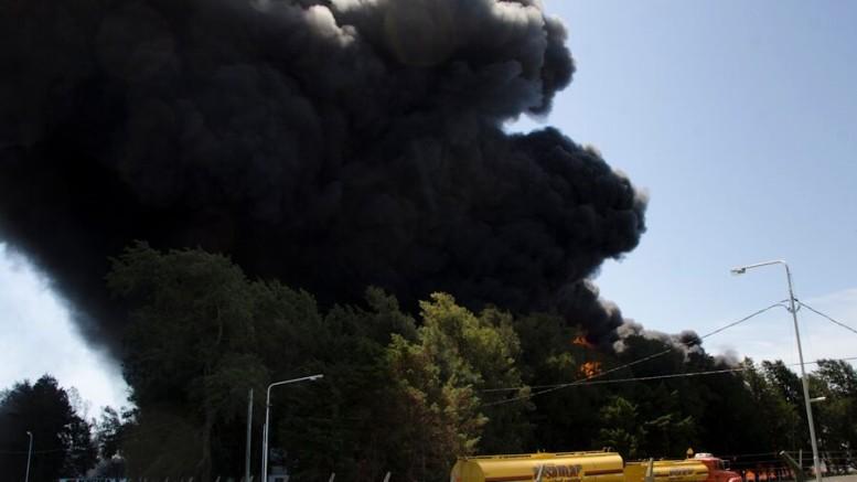 Incendio en la planta de Aceitera Martínez