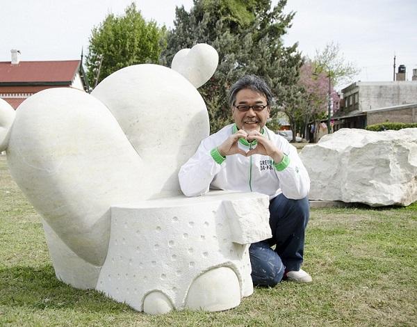 El artista japonés Inowe Baku.