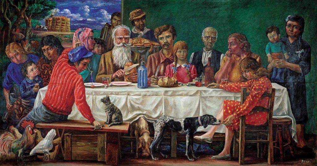Domingo en la chacra (1945): Imagen familiar en Roldán. Versión criolla de La Última Cena.