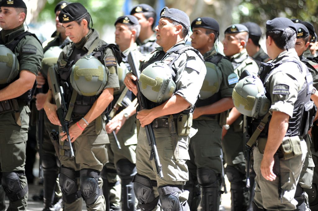 El secretario de Seguridad de la Nación, Sergio Berni, destacó el trabajo coordinado que realizó con las autoridades de la provincia, y poner en el cargo al nuevo jefe de la Gendarmeria destacamento Rosario. LA CAPITAL/Alfredo Celoria (Rosario - Argentina - Tags: Ciudad)