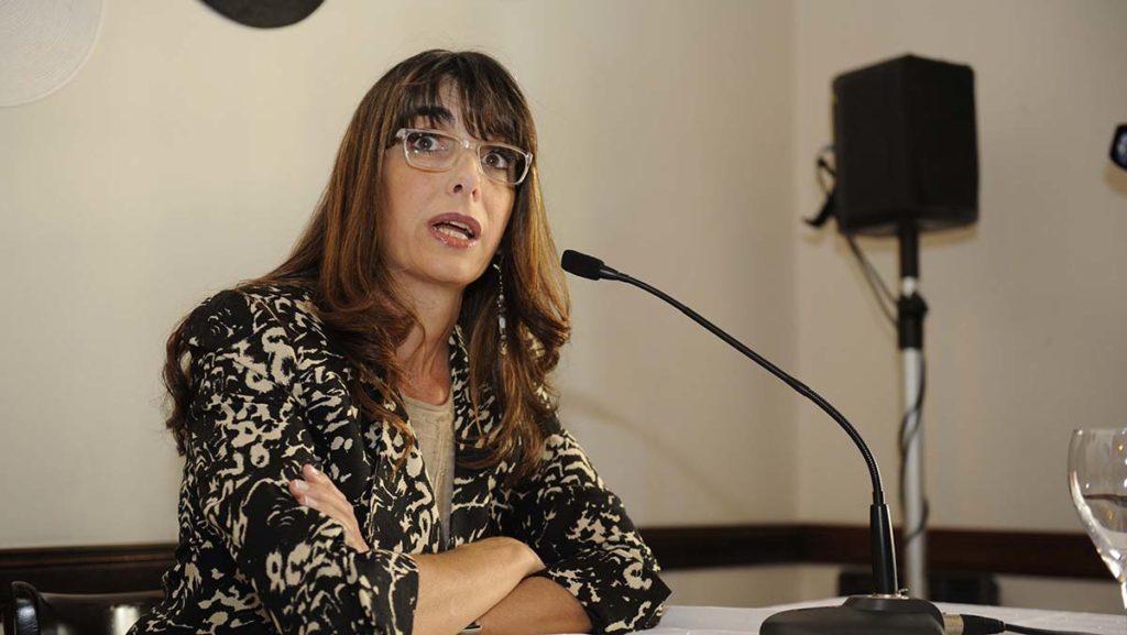 Rosario 27-02-2013 conferencia de prensa de La diputada provincial Maria Eugenia Bielsa. foto Sebastian Suarez Meccia